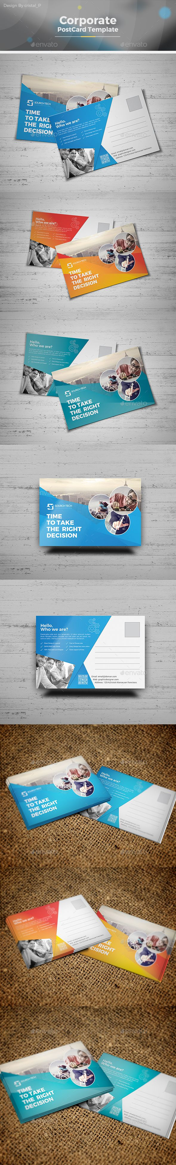 Postcard Template - #Cards & Invites Print #Templates Download here: https://graphicriver.net/item/postcard-template/19541502?ref=alena994