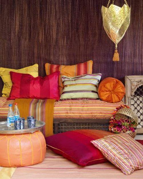 orientalische wohnideen bodenkissen sitzkissen bank osmanne