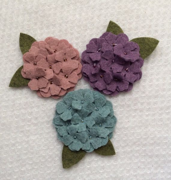 You will be getting 3- 2 inch hydrangea measured before the leaves were added. Colors are: Teal Heather Peruvian pink Heather Plum