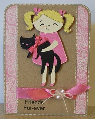 http://scrappinnavywife.blogspot.com/2010/06/meow-lite-cartridge-friends-fur-ever.html: Friends Fur, Cricut Lite, Scrapbook Card, Cartridge Friends, Cricut Card, Animal Pet Scrapbook, Cricut Cartridge Meow, Card Cricut Meow, Animalpet Scrapbook