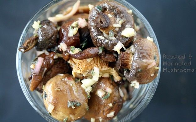 roasted amp marinated mushrooms will be trying this