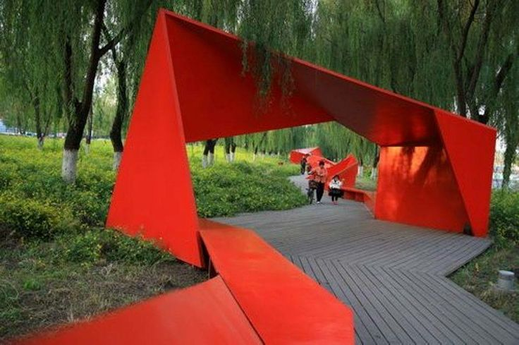 #atolyearch_urbanintervention #atolyearch_steel red ribbon park