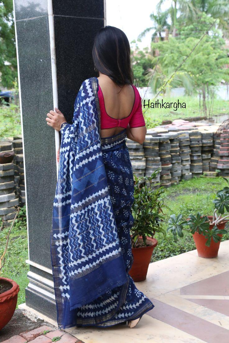 Indigo sari.. handloom love