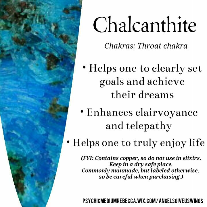 Chalcanthite crystal meaning