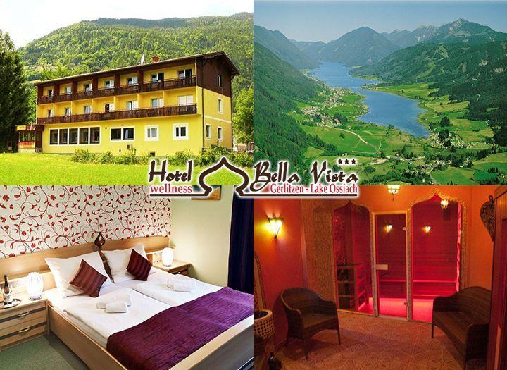 Mai utazás Belföld Kupon - 65% kedvezménnyel - Mai utazás Belföld - Ősz pihenés Ausztriában az Ossiachi tó partján található Hotel Bella Vista Wellness***-ben, 3 nap 2 éjszaka  2 fő + egy 3 év alatti gyermek félpanzióval, ajándék masszázzsal 109.000 Ft helyett 37.990 Ft-ért. Most fizetendő 5.700 Ft..