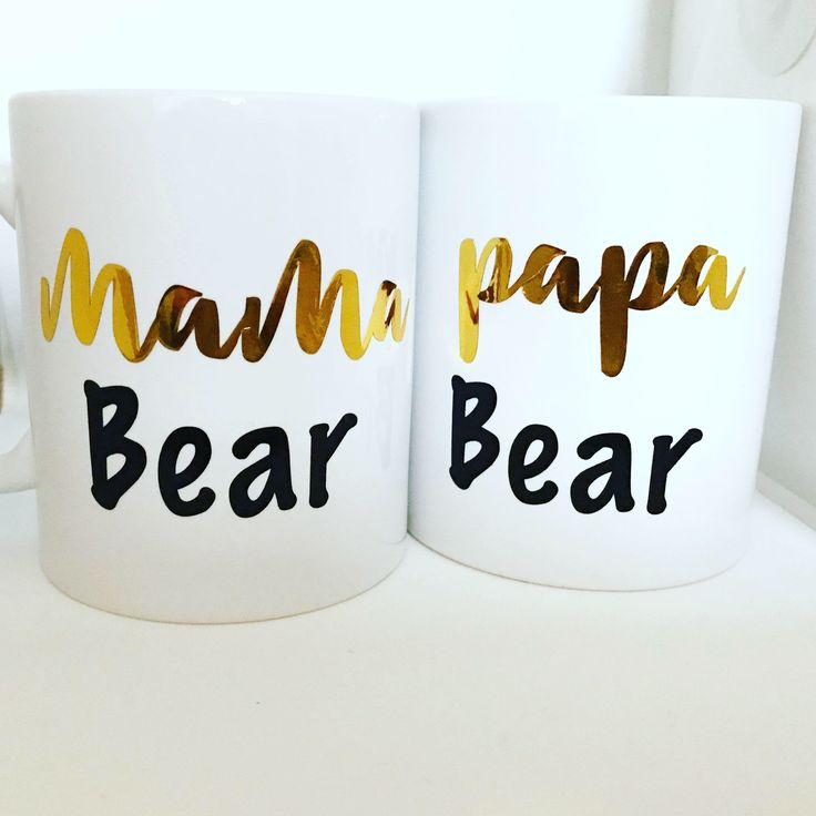 A personal favourite from my Etsy shop https://www.etsy.com/uk/listing/578772695/mama-bear-and-papa-bear-matching-mugs