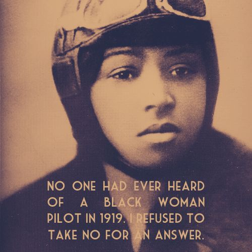 Bessie Coleman First Black American Woman Pilot.  Imagine if She had been an Astronaut!!!!! :D