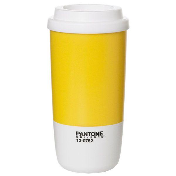 Pantone Thermo cup, Lemon, by Room Copenhagen.