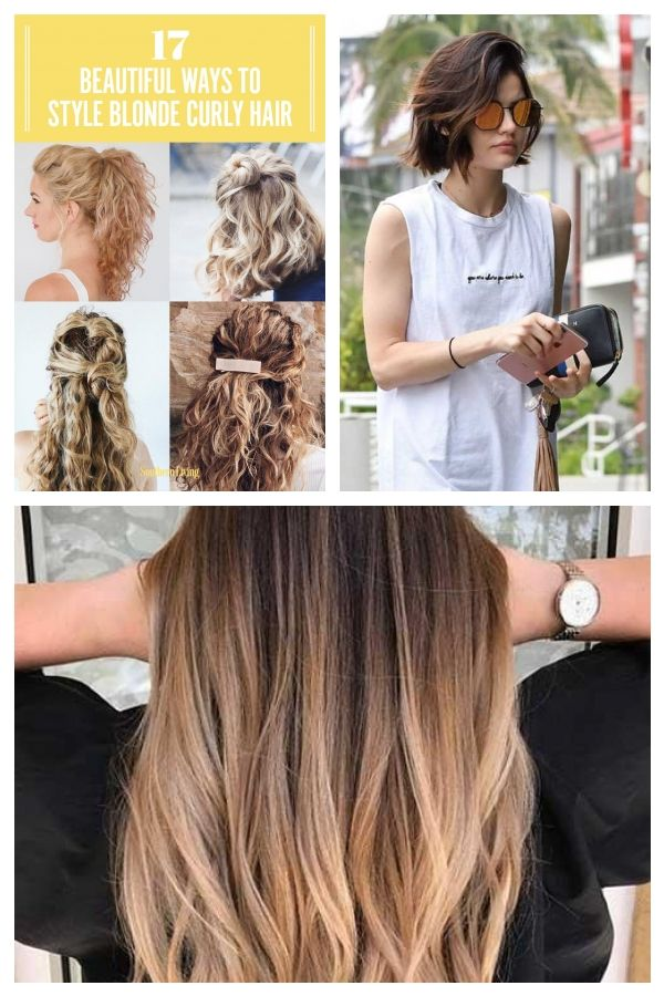 17 Schone Moglichkeiten Blondes Lockiges Haar Zu Stylen Blonde Curly Hair Curly Hair Styles Hair Styles