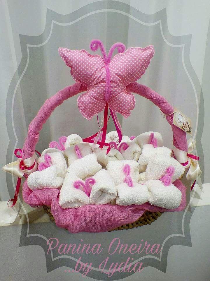 Handmade favors butterflies towels by Panina Oneira. www.paninaoneira.gr