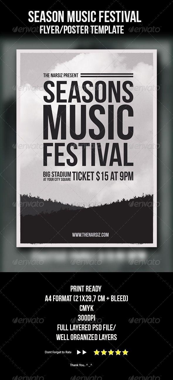 874 Best Concert Flyer Templates Images On Pinterest Concert Flyer