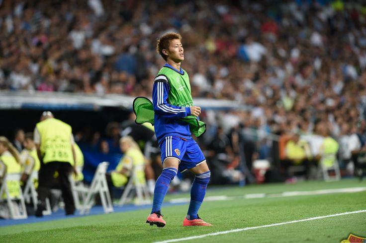16.09.2014; Basel; Fussball Champions League - Real Madrid - FC Basel; Yoichiro Kakitani (Basel) (Valeriano Di Domenico/freshfocus)