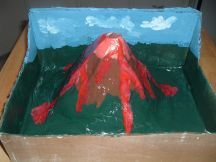 Best tutorial I've found so far on how to make a paper mache volcano that actually looks like a volcano.