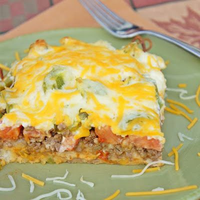 John Wayne Casserole--I would halve it and do an 8X8. I topped mine with loads of shredded lettuce, chopped tomato and sliced black olives. It was good!