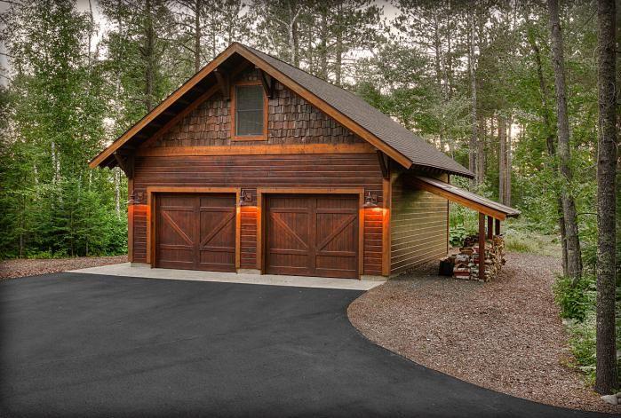 pretty garage with leanto storage