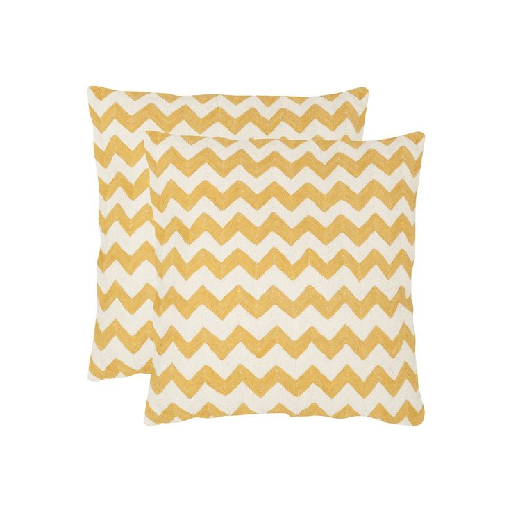 Chevron Tealea 2-piece 22'' x 22'' Throw Pillow Set, Drk Yellow