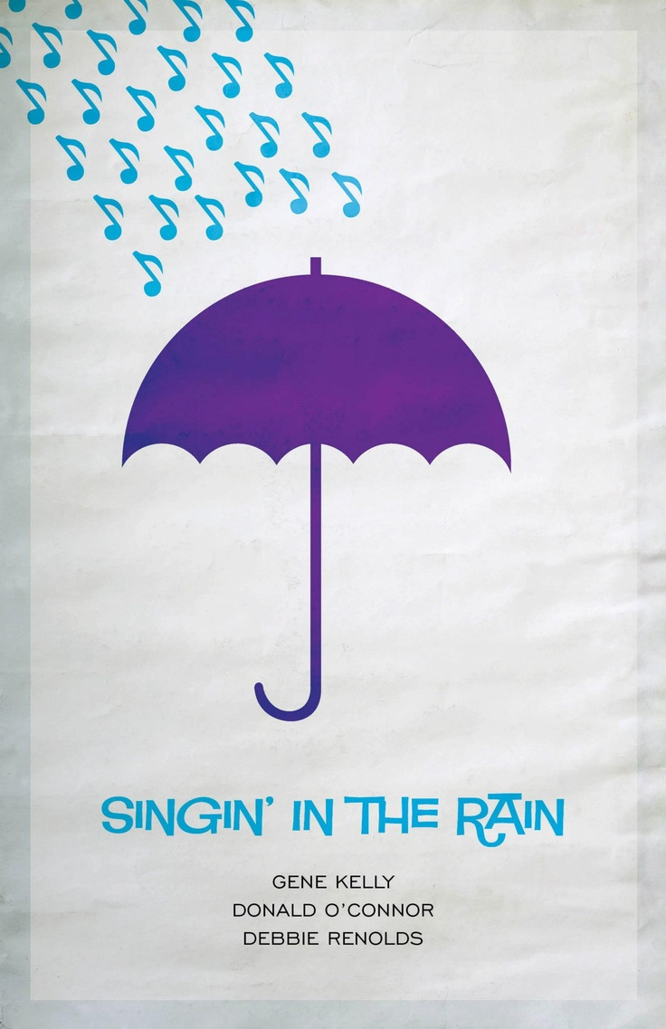 Poster design notes - Singing In The Rain Minimalistic Movie Posters
