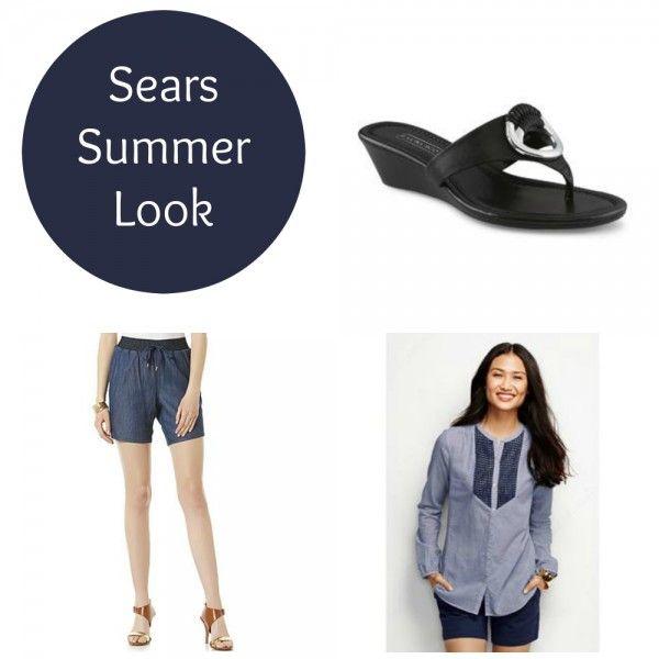 Sears summer look, get it on sale this Memorial Day weekend. #spon