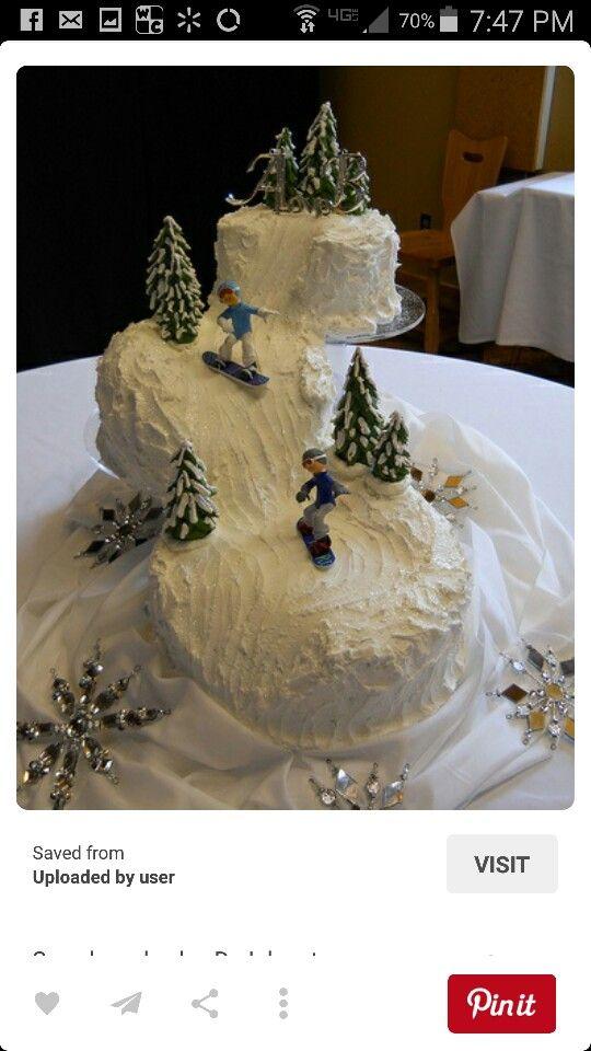 Snow ski cake