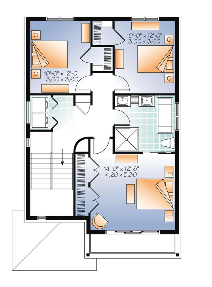 Contemporary Modern Level Two of Plan 76362