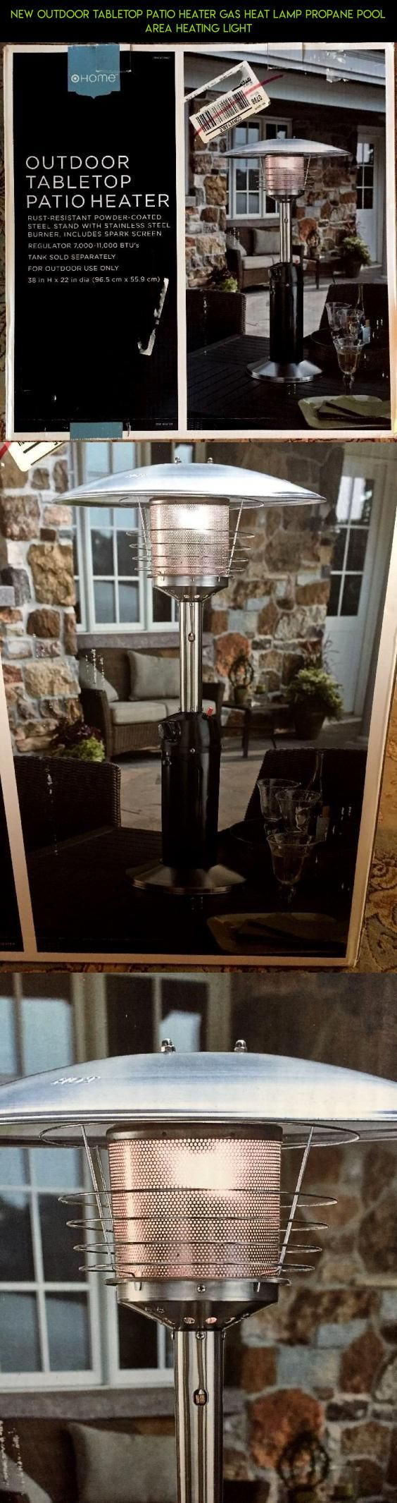 NEW Outdoor Tabletop Patio Heater Gas Heat Lamp Propane Pool Area Heating Light #gadgets #drone #plans #racing #lamp #heating #products #shopping #camera #kit #tech #fpv #technology #parts