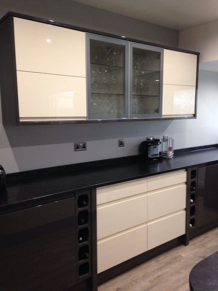 Wickes sofia cream and graphite mix personal kitchen for Wickes kitchen designs