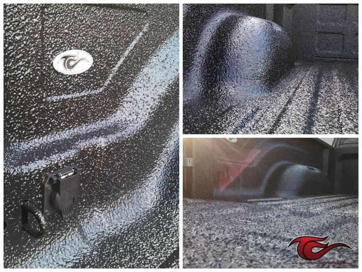 This Custom Black Rubber Crumb Scorpion bed liner was