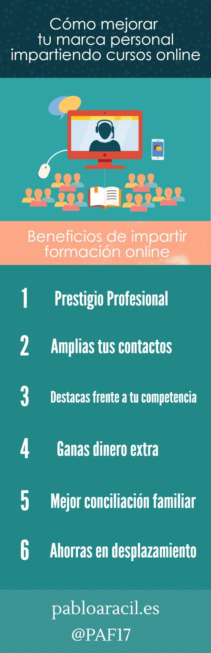 Cómo mejorar tu marca personal impartiendo cursos online  #MarcaPersonal #Marketing #Educacion