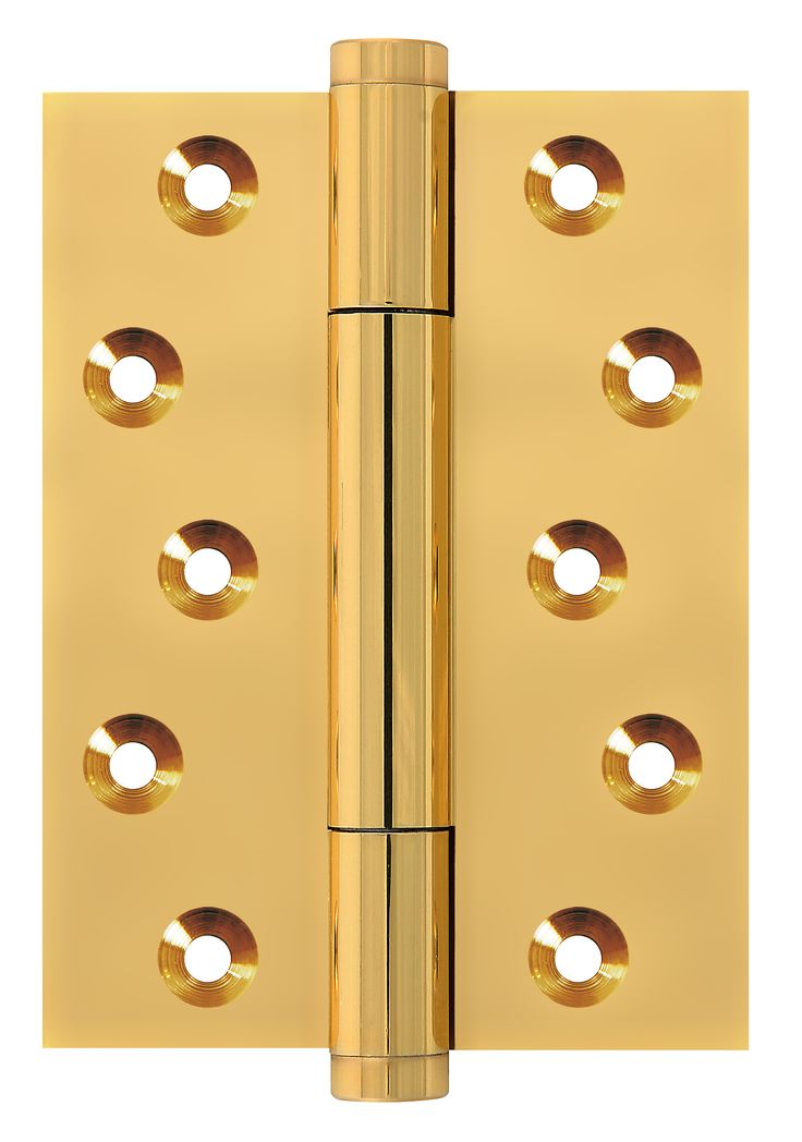 TRITECH-PVD brass finish. Solid brass concealed bearing hinge. Weight carrying capacity to 160kg. Suitable for heavy weight flush doors tested to BS EN 1935 grade 14. CE marked 30 & 60 min fire door rated.