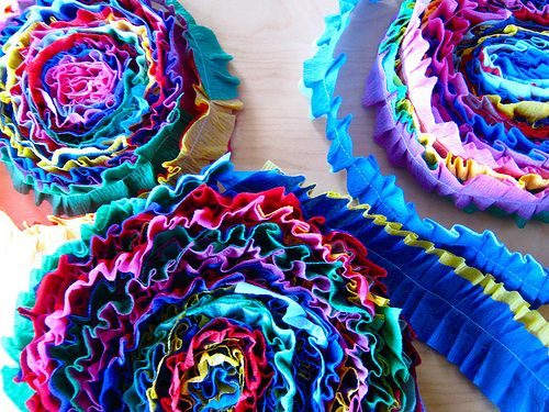 Decorations for a Rainbow party