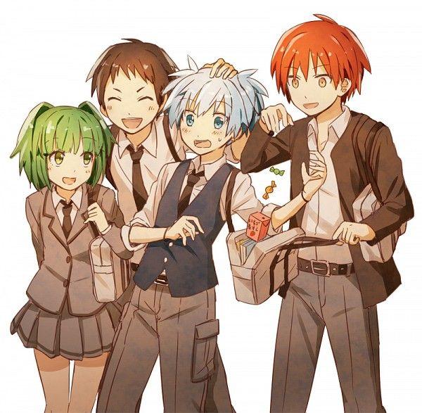 Kayano, Sugino, Nagisa and Karma