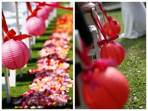 paper lanterns..thought about this but idk if I want to have to decorate that much the morning of the wedding