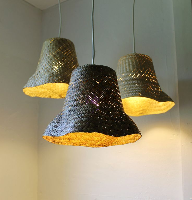Basket Case - upcycled wicker basket hanging pendant lighting fixture - repurposed woven rattan planter lamp