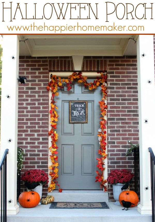 Halloween Porch Decor  - Love it!