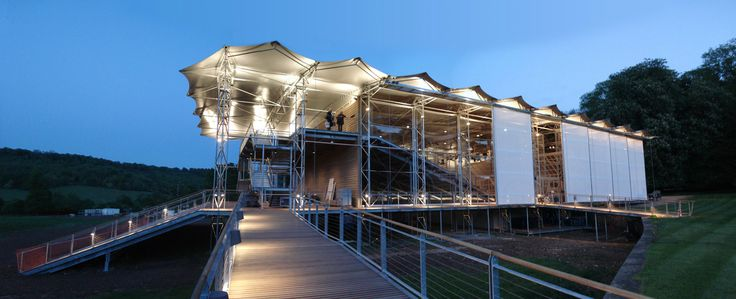 The Garsington Opera Pavilion at dusk