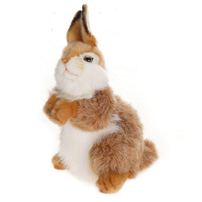 Realistic Stuffed Animals | Hansa Plush Realistic Stuffed Animal - Baby Bunny Carmel