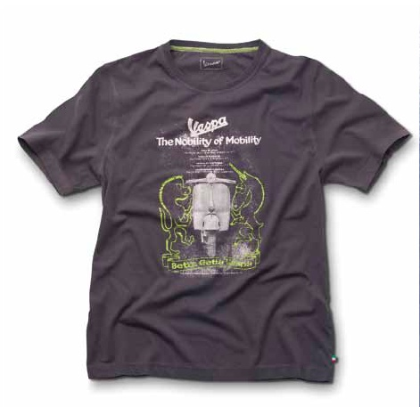Vespa T-shirt #Vespa #scooter #garment #graphics #shirt #gray