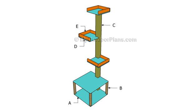 Cat Tower Plans | Free Outdoor Plans - DIY Shed, Wooden Playhouse, Bbq, Woodworking Projects