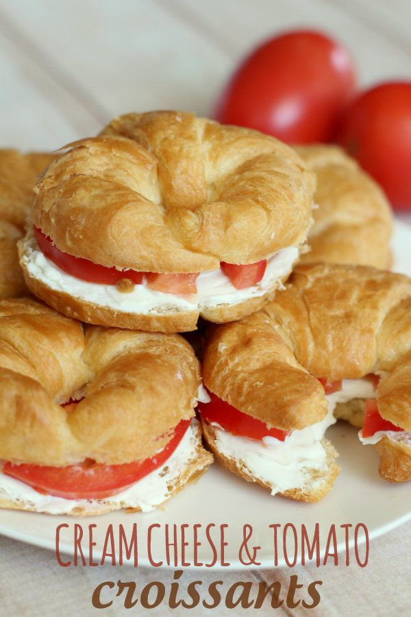 Super easy and yummy Cream Cheese Croissant Sandwiches
