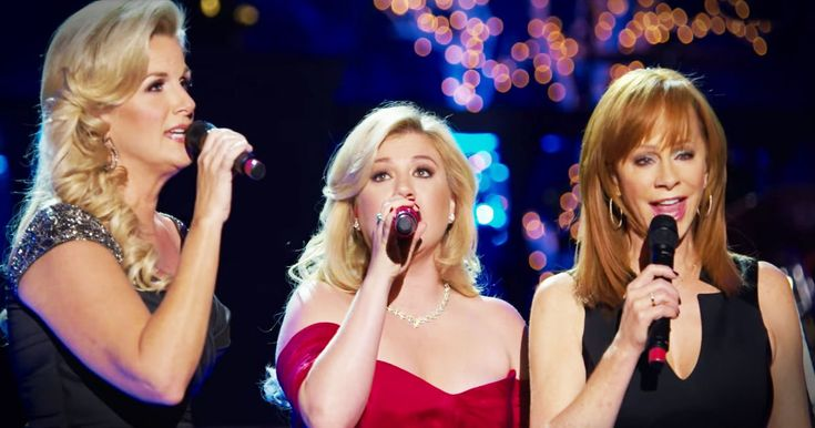 I didn't think Kelly Clarkson's rendition of 'Silent Night' could get any better. But then Trisha Yearwood and Reba McEntire showed up. And this trio sang to the Lord so beautifully I got all misty.