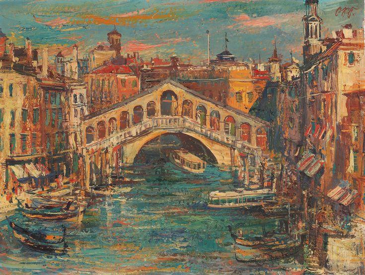 Otto Rudolf Schatz - Venedig, Rialtobrücke