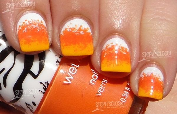 Candy Corn Nails, Pumpkin Nail Polishes