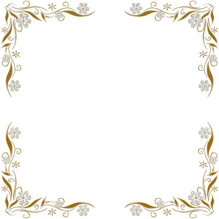 Golden Floral Corners Frame 2 by Paw-Prints-Designs on deviantART