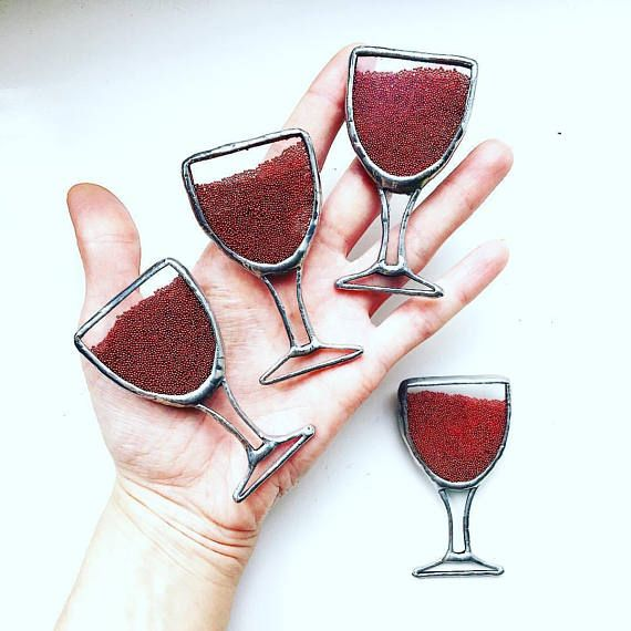 Wine brooch Wine gifts for woman Wine jewelry Stained Glass  #winebrooch	#winegifts #winegiftsforwoman #winejewelry	#stainedglass	#microbeads #microbeadsbrooch #glassofredwine	#redwine #tiffanytechnique #rubyredbrooch #winelovergift #ilovewine #winegift #redwineglass	#burgundybrooch #winelover #etsyseller