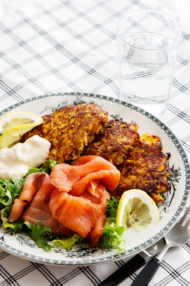 Rutabaga Fritters with Smoked Salmon - Diet Doctor