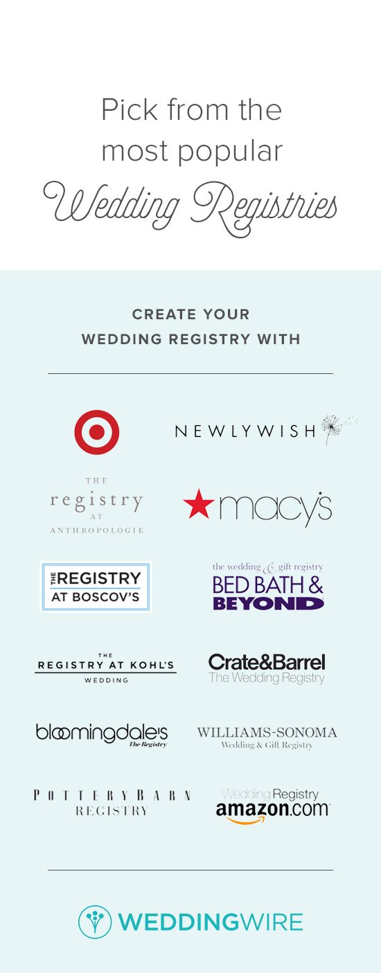 Trying to decide on a wedding registry? Easily compare the top brands on WeddingWire!