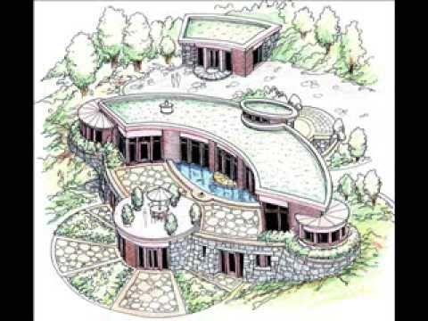 Looks Peaceful And Like It Built Into The Land ~Rhonda Pfeil Organic Sacred  Geometry House Plans