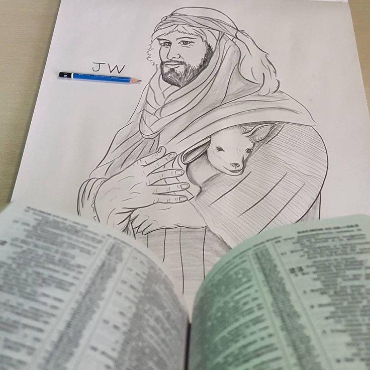 "____✏  ""Jehová es mi pastor. nada me faltará."" salmos 23.  .  .  #jwartwork #jwlove #jwlife #jworg #artwork #skeching #drawing #art #dibujos #dibujando #dibujarte #dibujandoando #arts #pendrawing #dibujosalapiz #dibujosart #arte #dibujoamano #ilustration #artes #pencil #draw #pastor #dibujar #arte_olaez"
