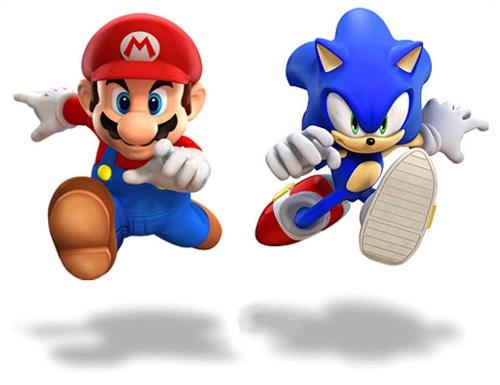 Mário e Sonic  Confira também Jogos do Mário (Online & Grátis) em: http://www.jogoson.com.br/jogos-do-mario/apostando corrida!