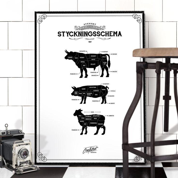 POSTER – Styckningsschema vitt, 50×70   HILKE indesign